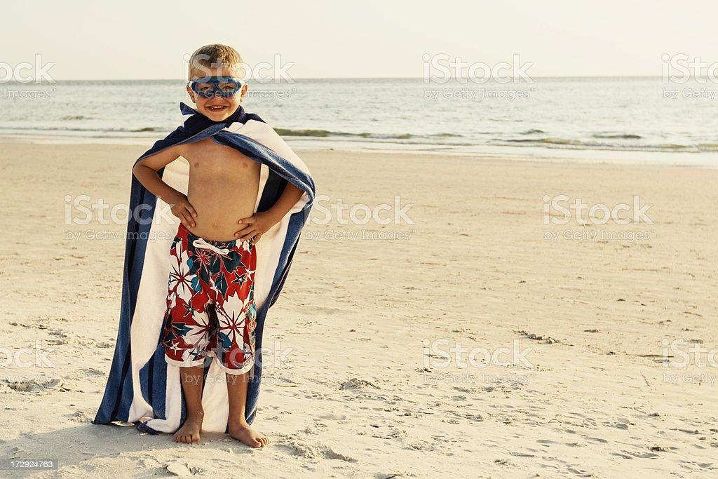 Beach Superhero royalty-free stock photo