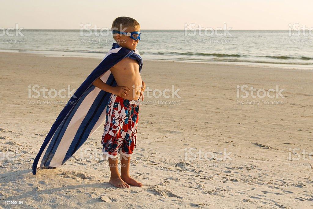 Beach Superhero stock photo