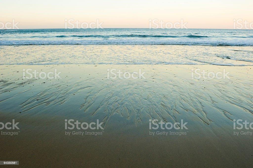 Beach, surf, daybreak stock photo