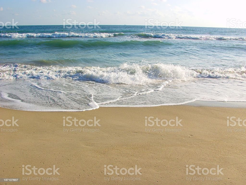 Beach Surf - Jensen 353 royalty-free stock photo