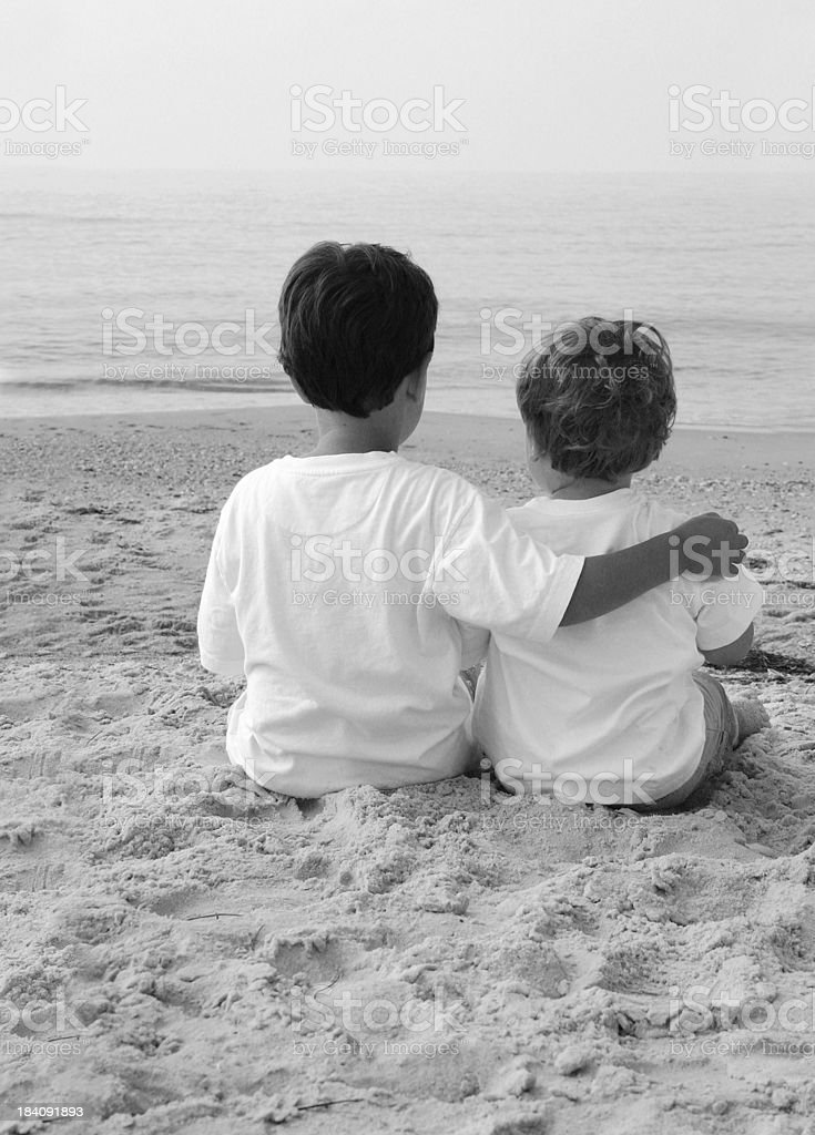 Beach Talk Vertical royalty-free stock photo