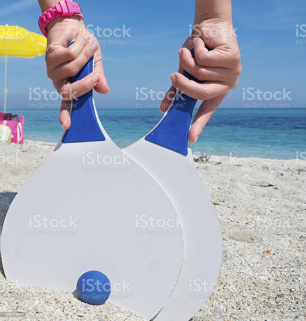 beach tennis royalty-free stock photo