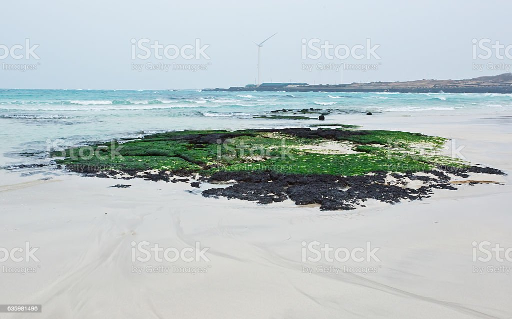 Beach the waves Juju stock photo