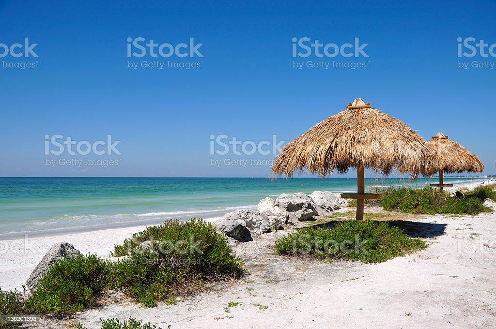 Beach Tiki Hut stock photo