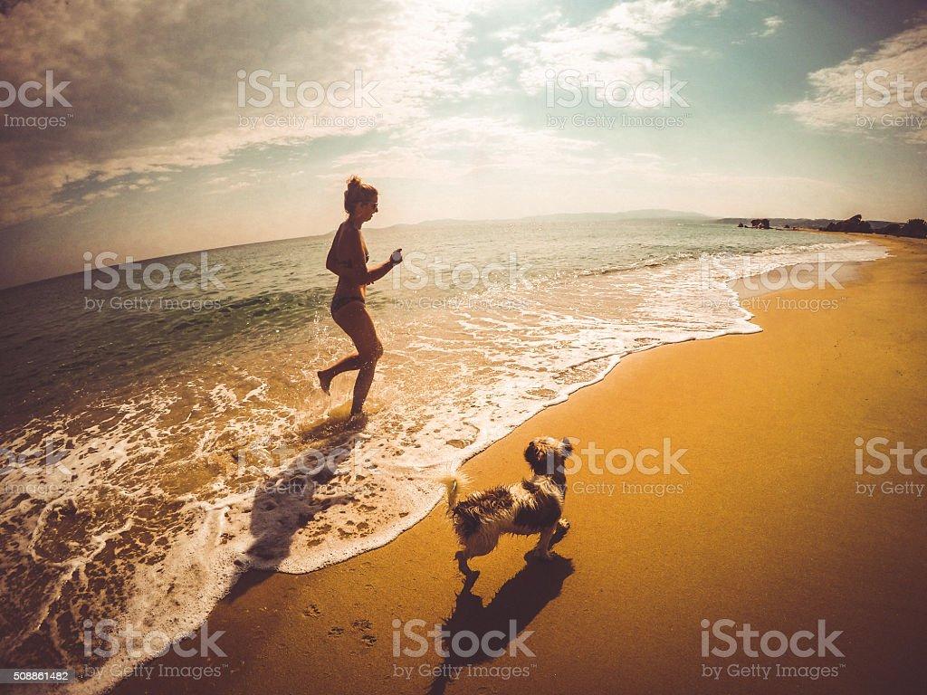 Beach time! stock photo