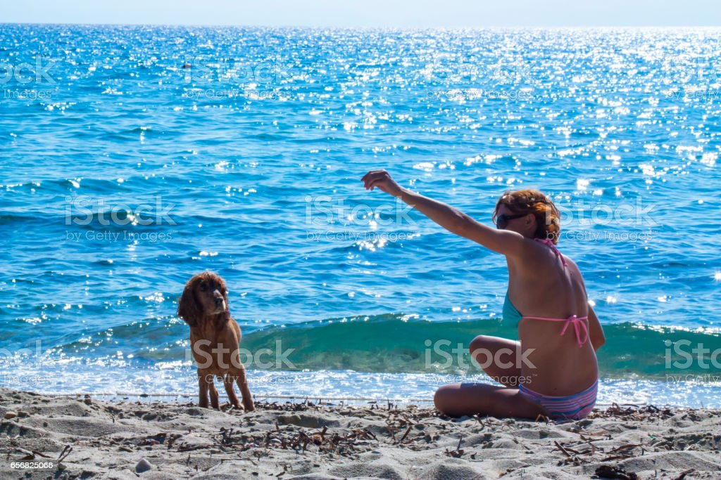 Beach time stock photo