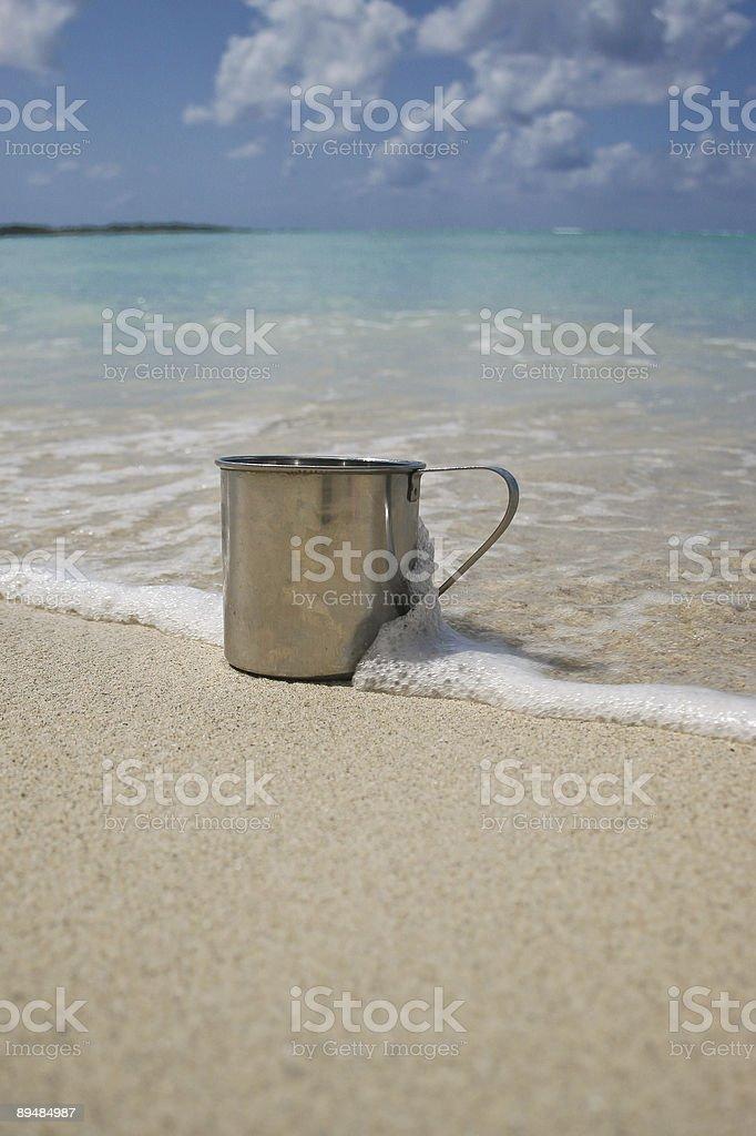 Beach tin royalty-free stock photo