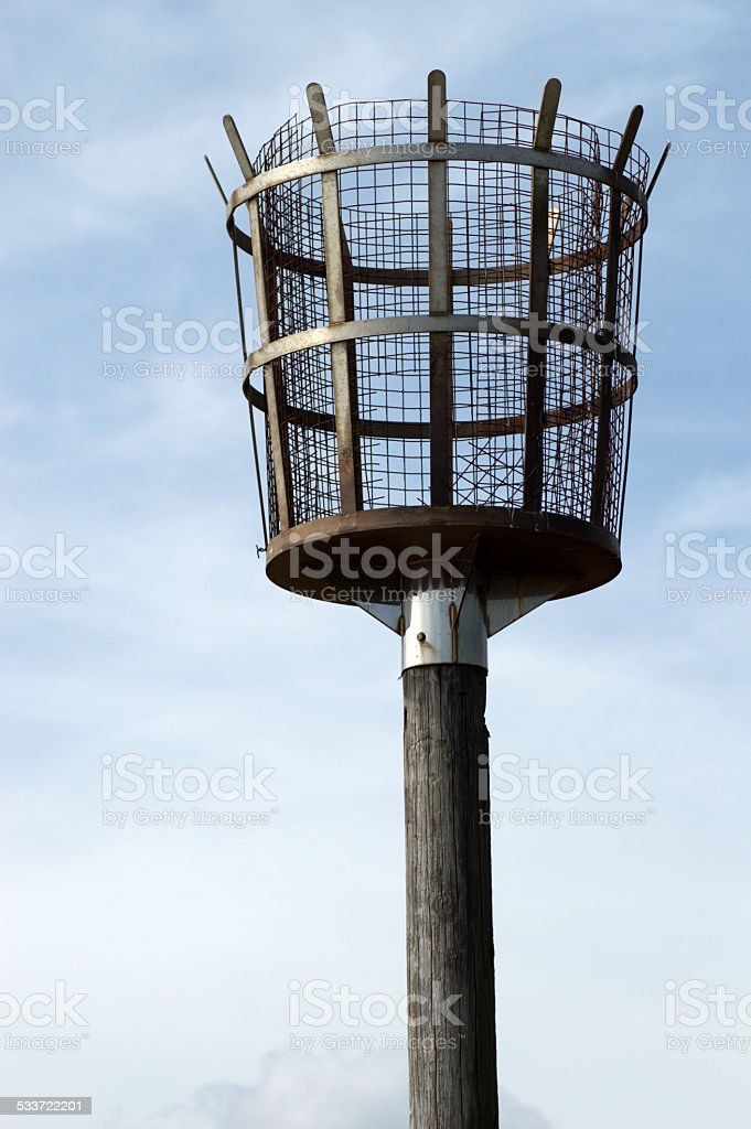 Beach Torch Beacon stock photo