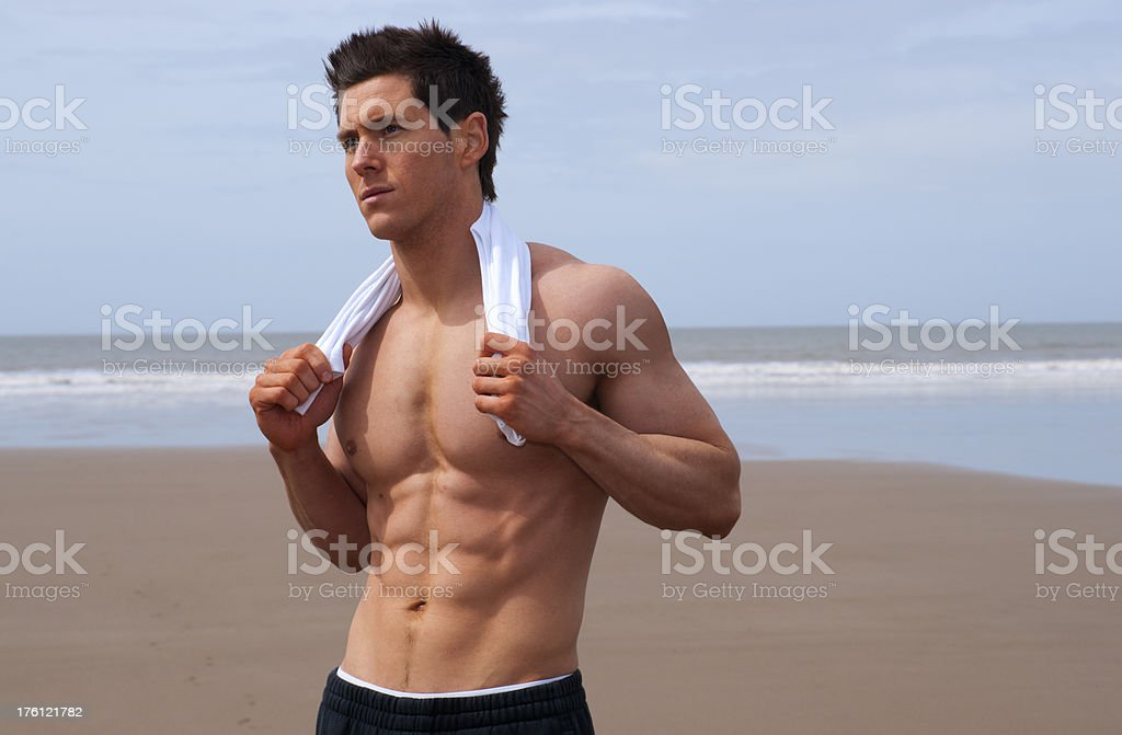 beach torso royalty-free stock photo