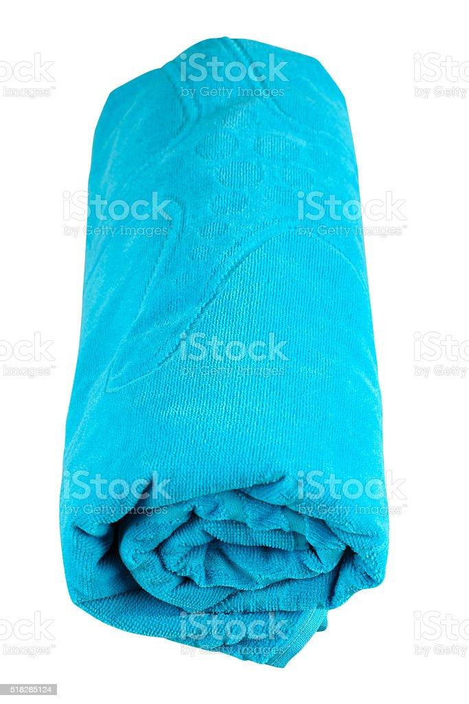 Beach towel isolated on white stock photo