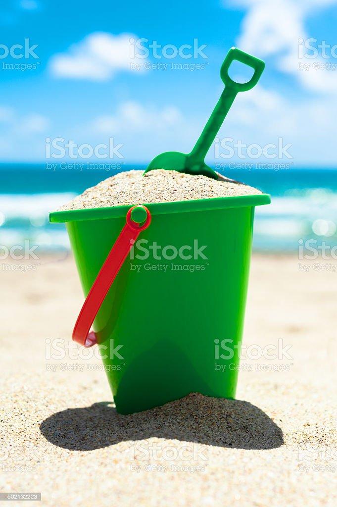 Beach Toy Sand Bucket stock photo
