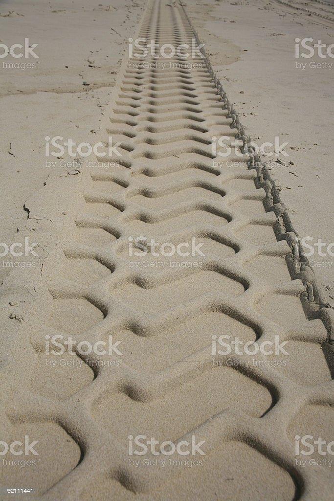 Beach Tracks royalty-free stock photo