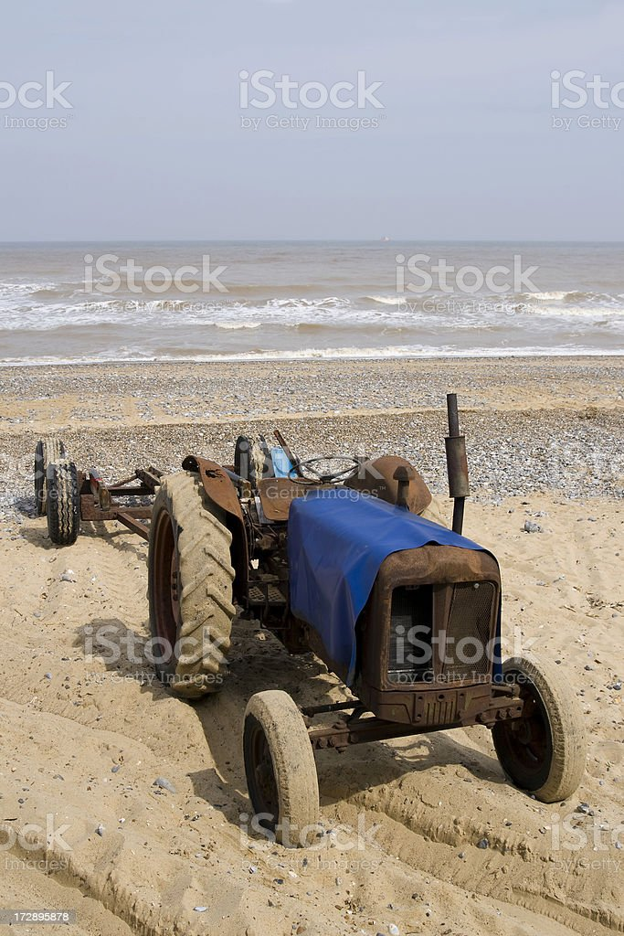 Beach tractor royalty-free stock photo