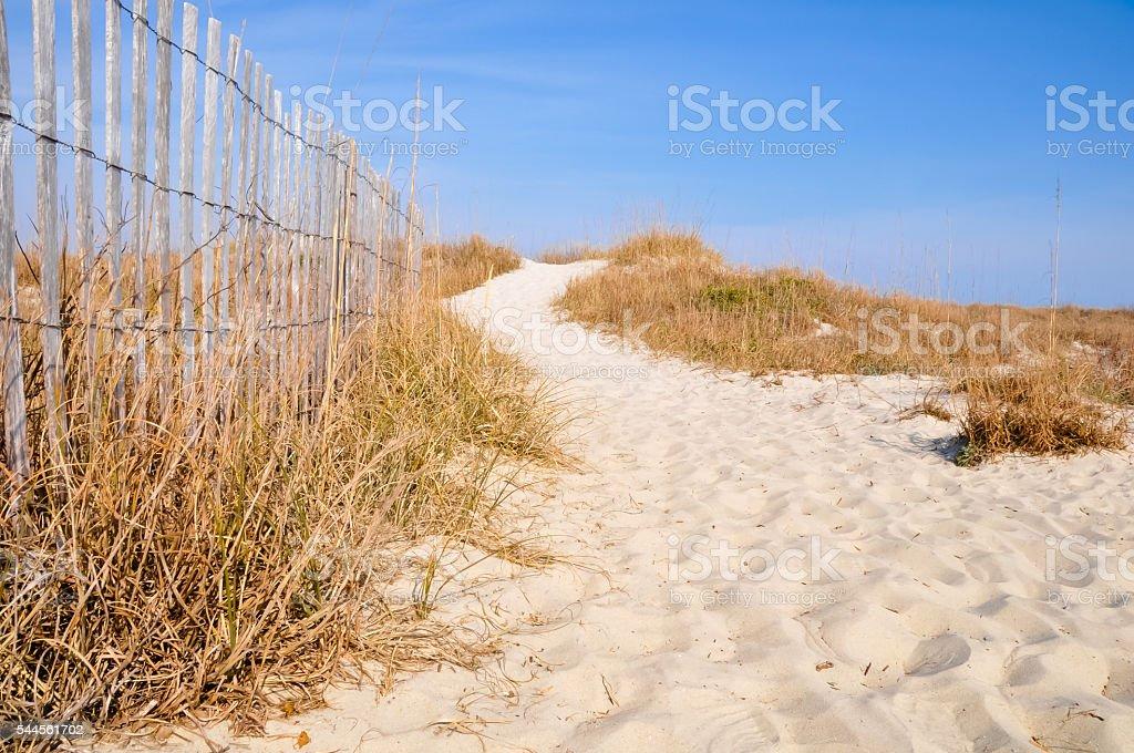 Beach Trail stock photo