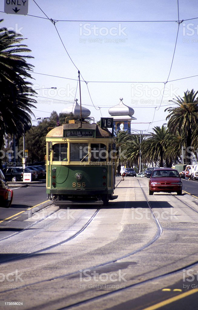 Beach Tram stock photo
