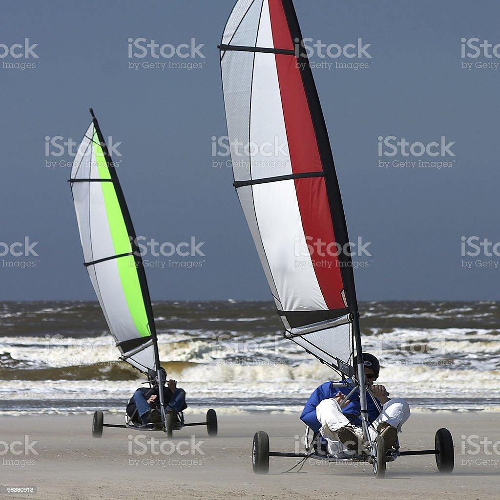Beach Trike race royalty-free stock photo