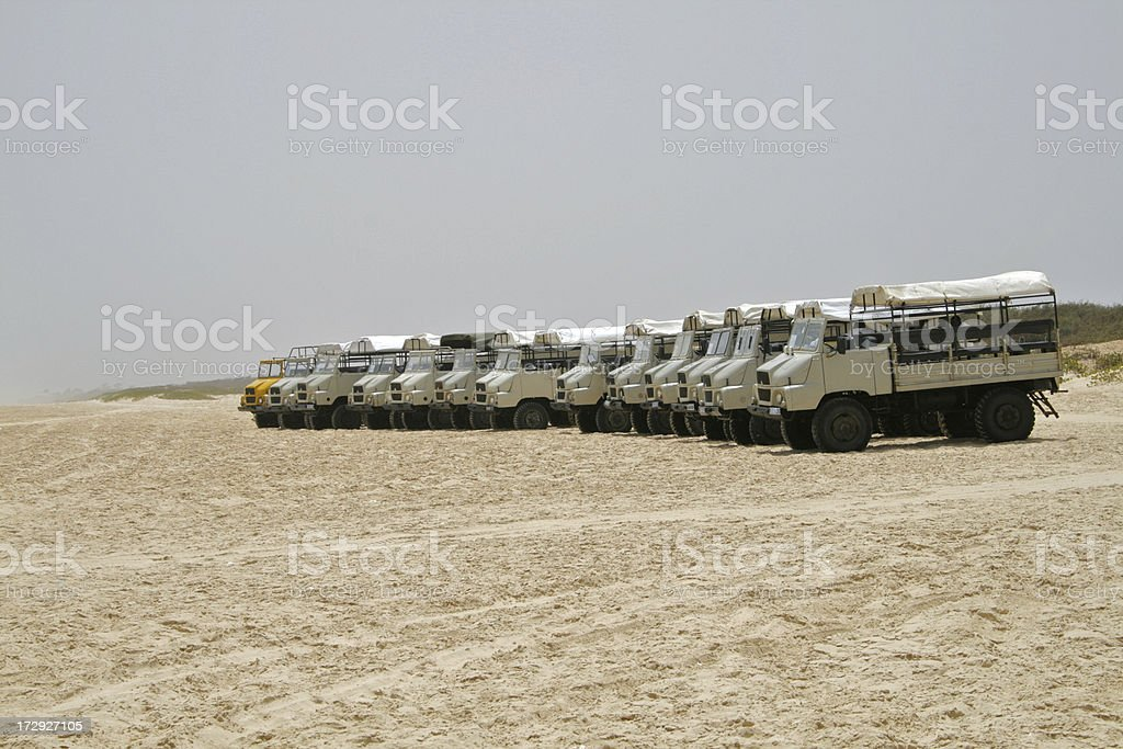 Beach Trucks stock photo