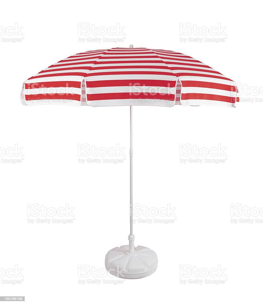 Beach Umbrella +Clipping Path (Click for more) stock photo