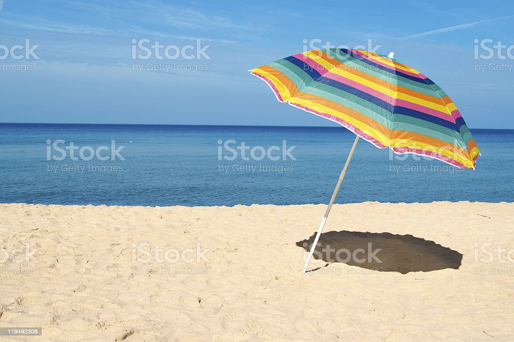 Beach Umbrella stock photo
