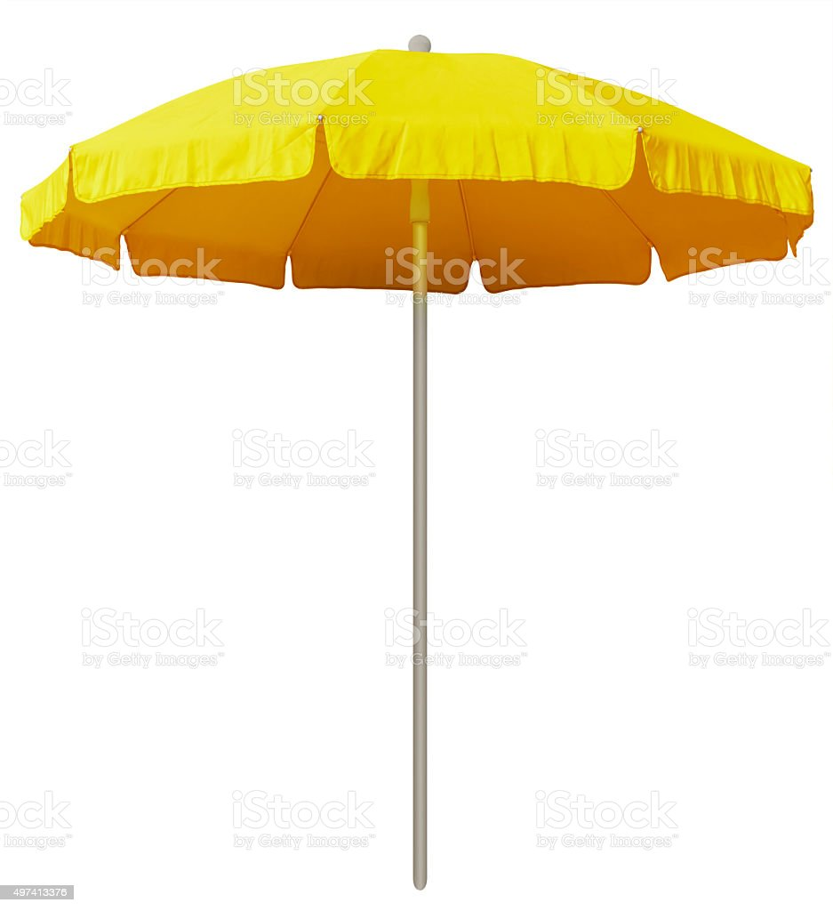 Beach umbrella - yellow stock photo