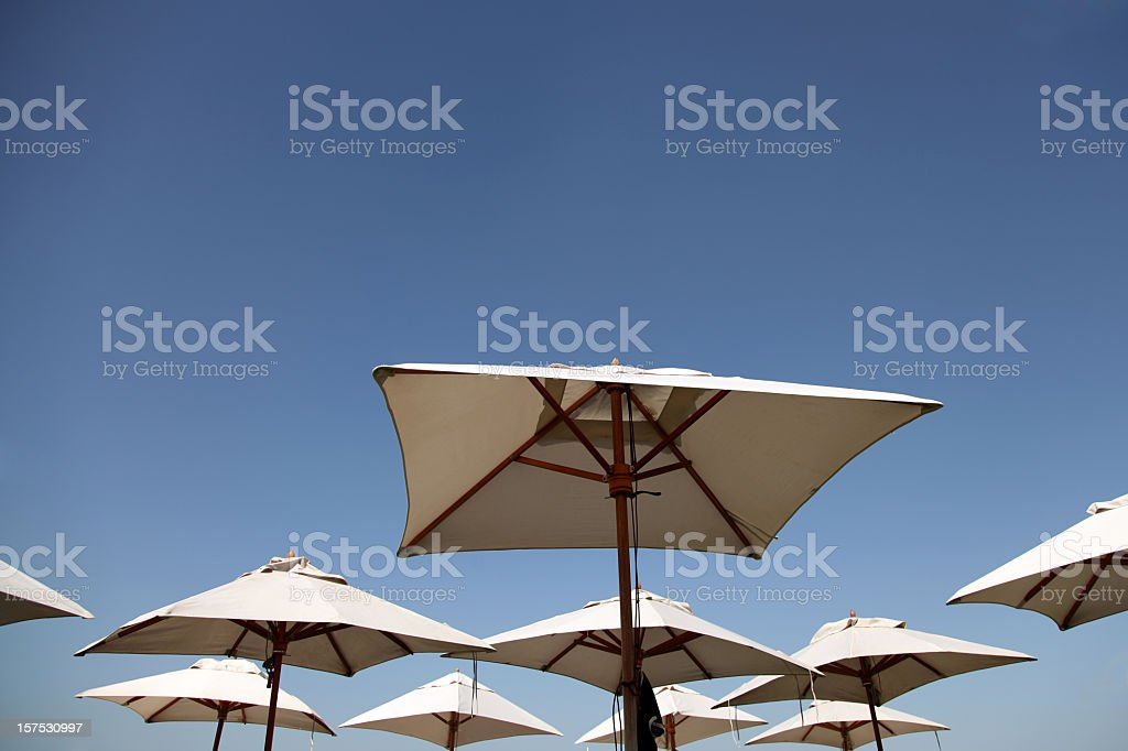Beach umbrellas royalty-free stock photo