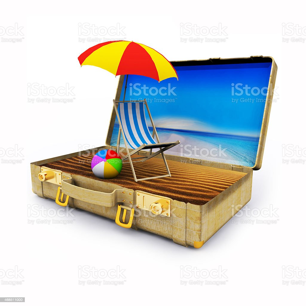 Beach vacation package stock photo