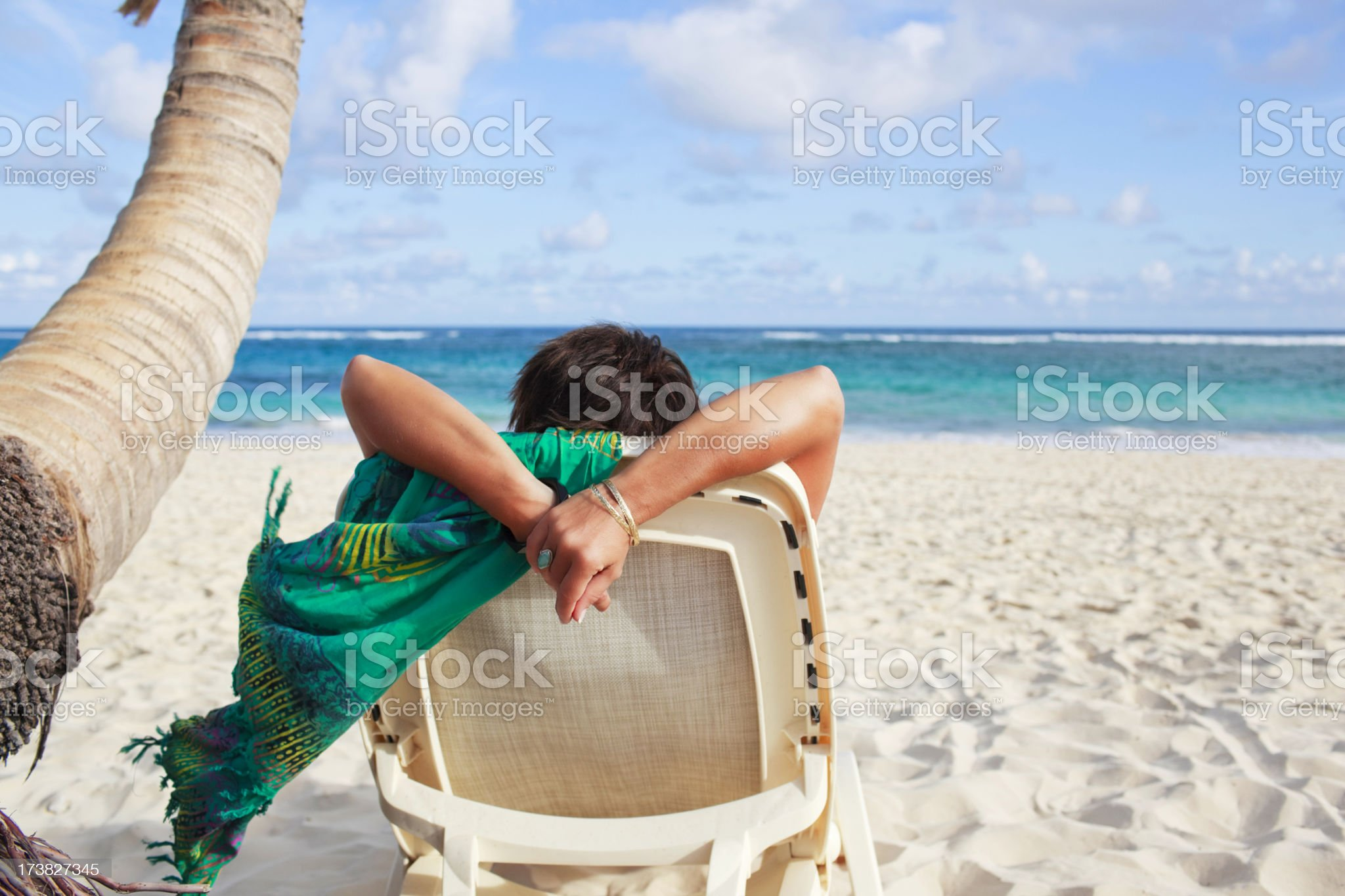 Beach Vacation Relaxation royalty-free stock photo