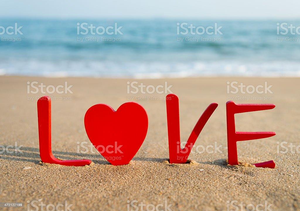 beach valentine stock photo