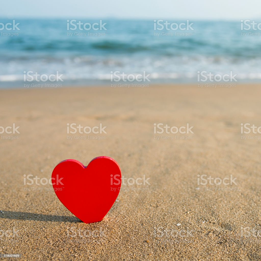 beach valentine stock photo