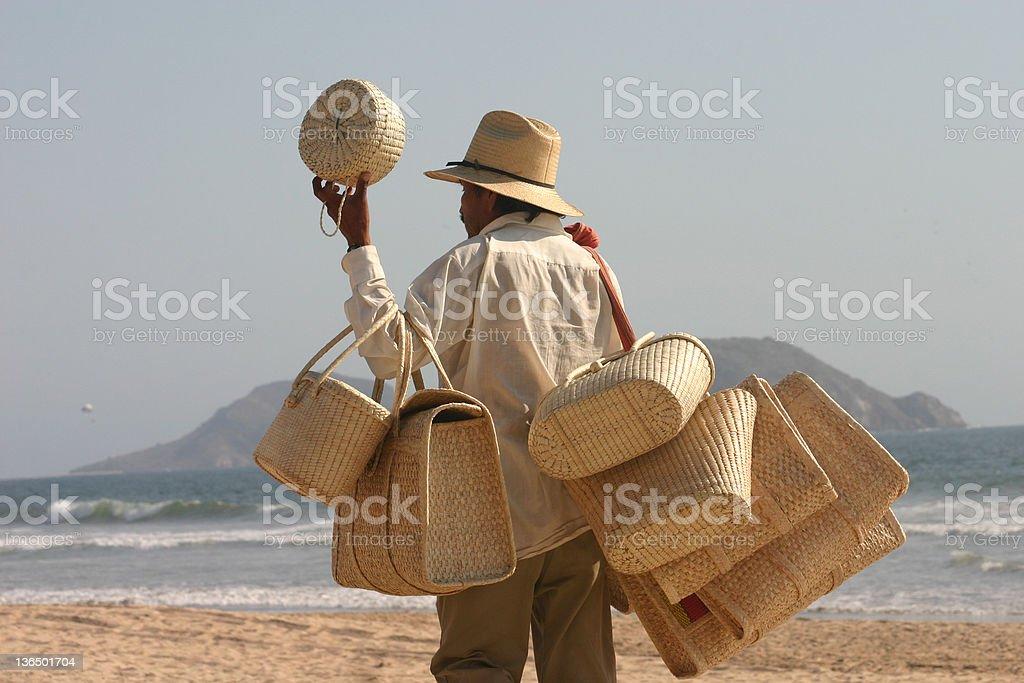 Beach vendor royalty-free stock photo