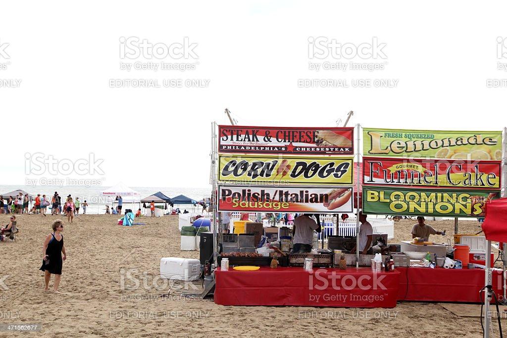 Beach Vendors royalty-free stock photo