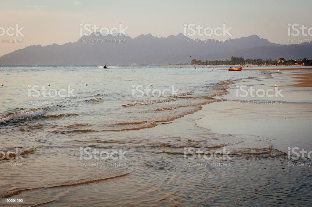 Beach view at Pulau Langkawi, Malaysia stock photo