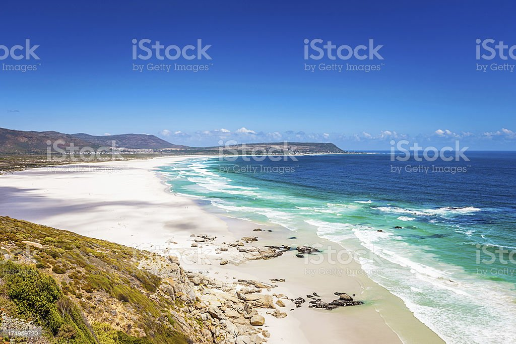 Beach View Cape Town South Africa stock photo