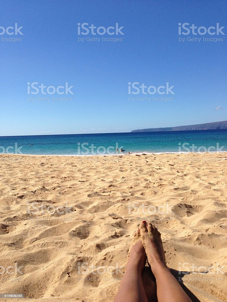 POV Beach View stock photo