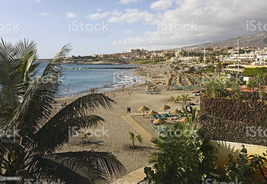 Beach view, Tenerife royalty-free stock photo