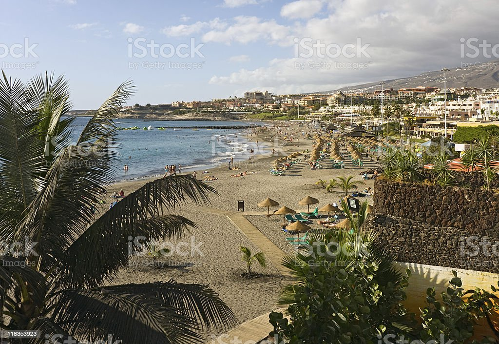 Beach view, Tenerife stock photo