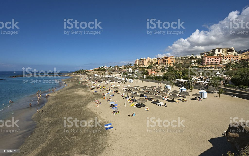 Beach view, Tenerife, Spain stock photo