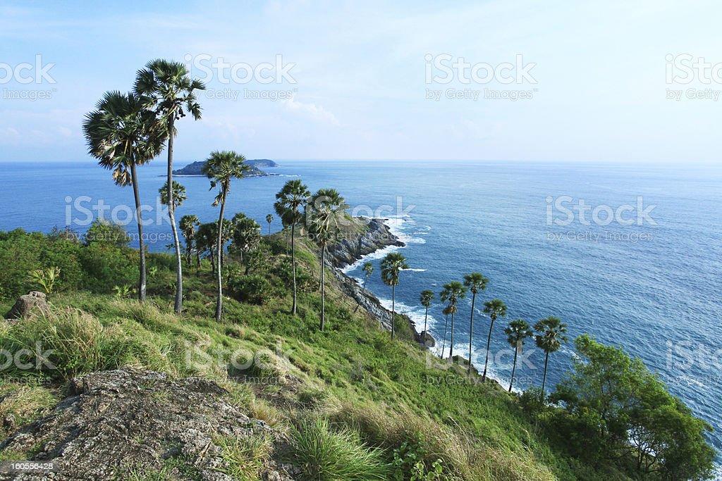 beach viewpoint phuket thailand. stock photo