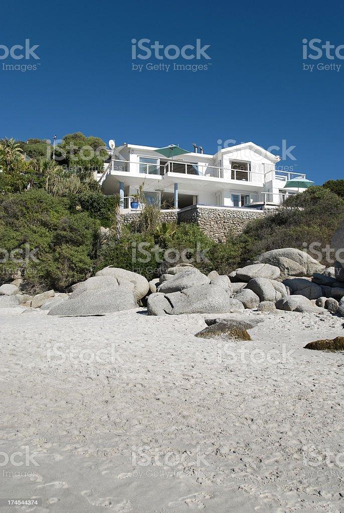 Beach villa stock photo
