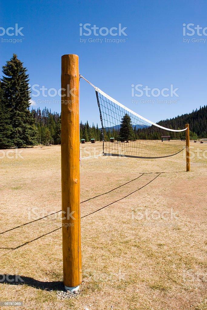 Beach Volley Ball Net & Field stock photo