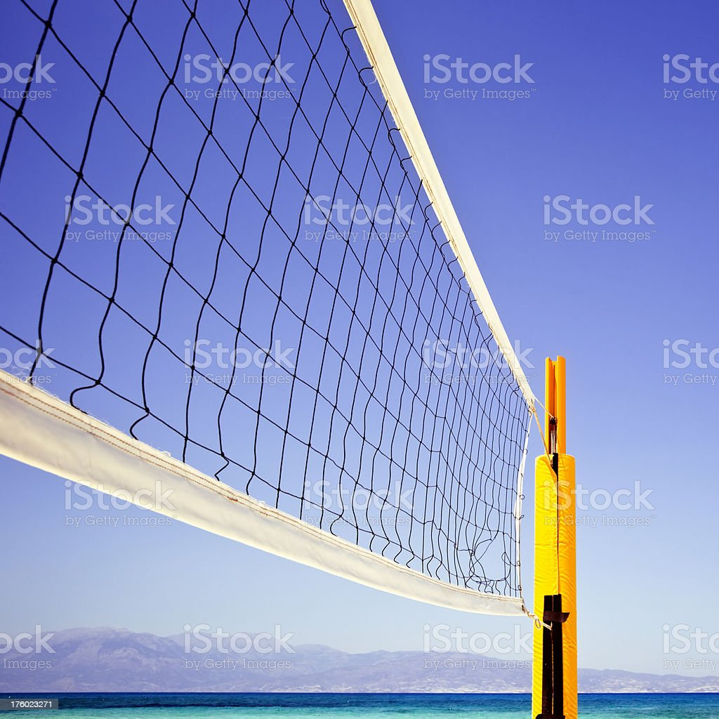 Beach volley net royalty-free stock photo