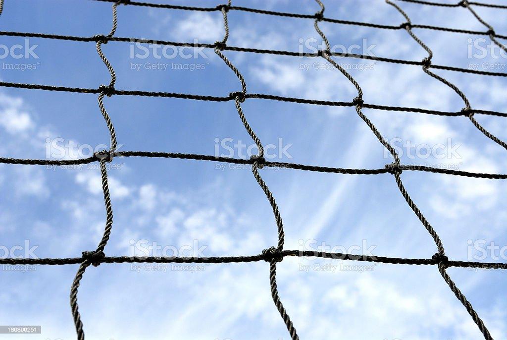 beach volley net royalty-free stock photo