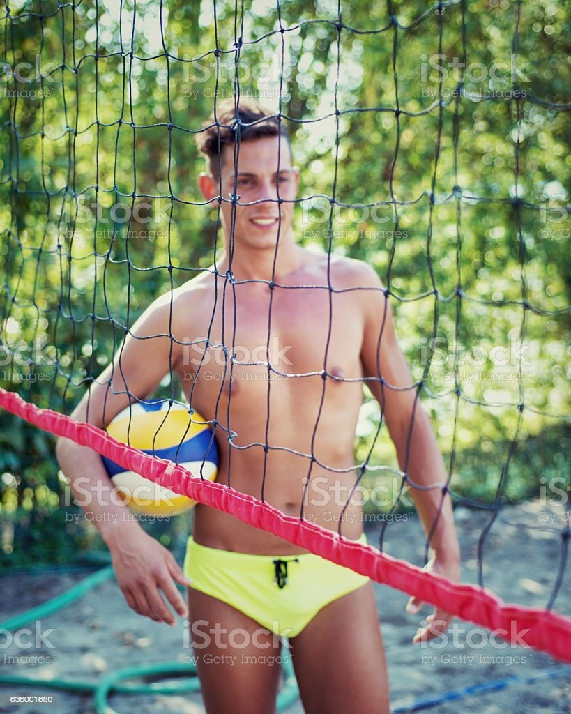 Beach Volley Player stock photo