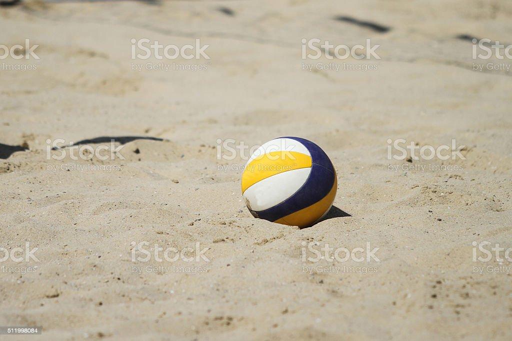 Beach volleyball ball stock photo