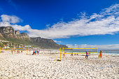Beach volleyball in Camps Bay - Cape Town, South Africa