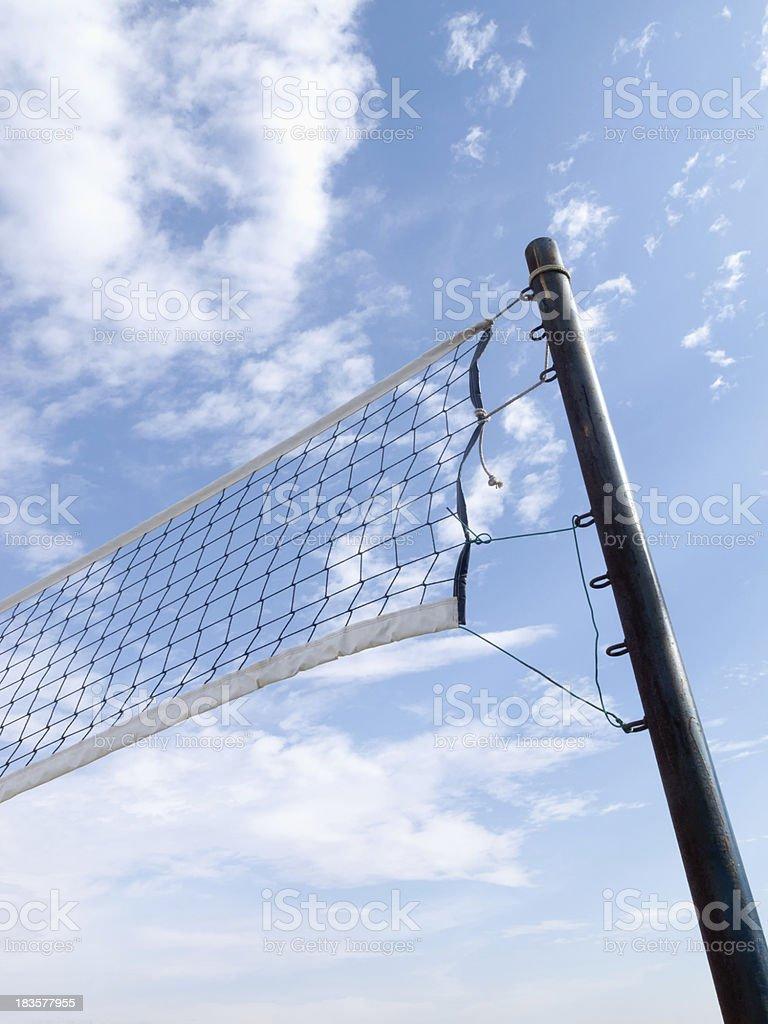 Beach volleyball net royalty-free stock photo
