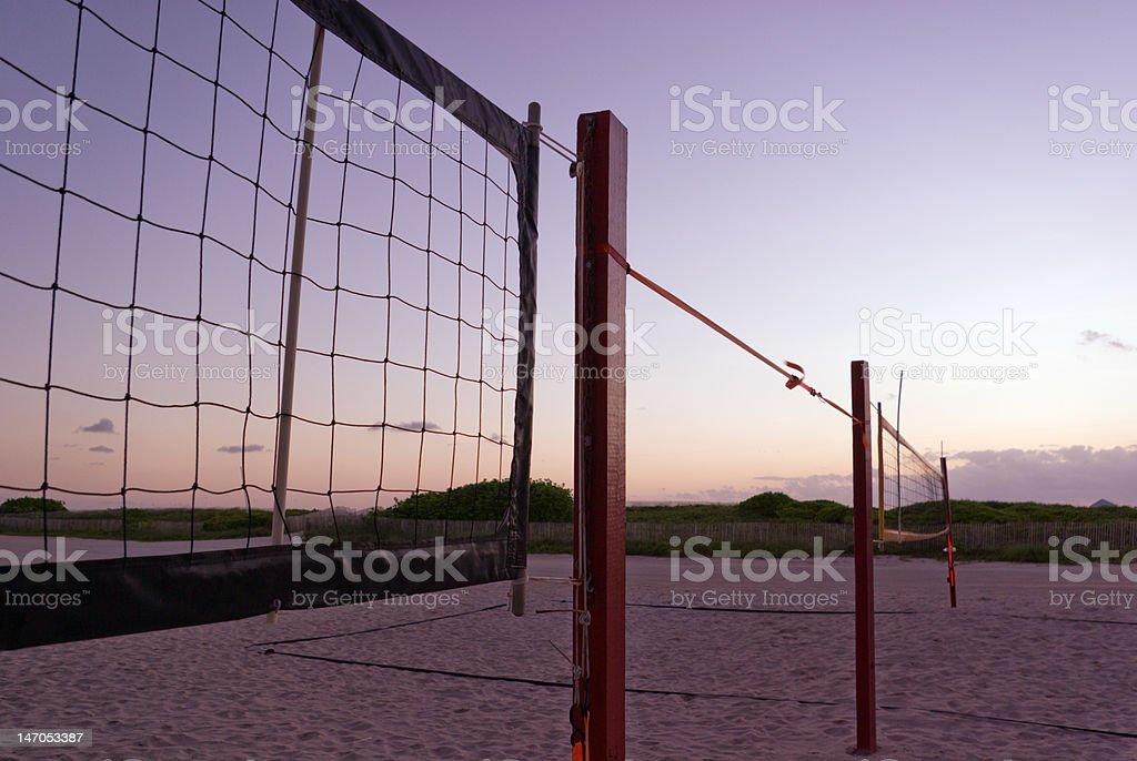 Beach Volleyball Nets stock photo