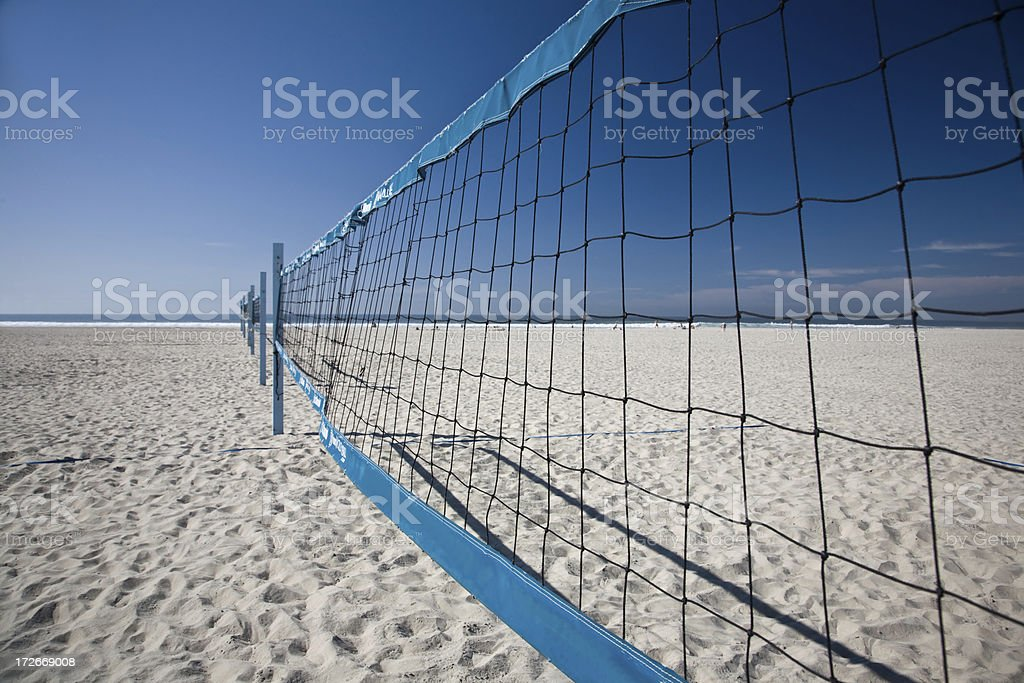 Beach Volleyball Nets royalty-free stock photo