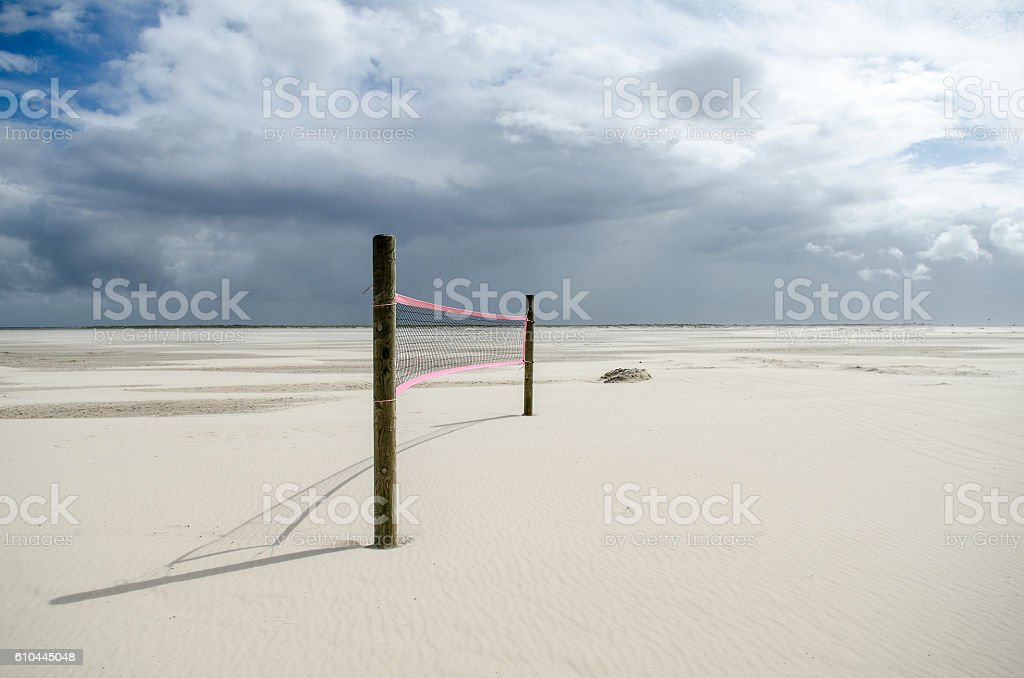 Beach volley foto stock royalty-free