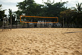 Beach volleyball sports field
